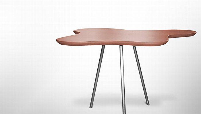 kaffebord med læder betræk